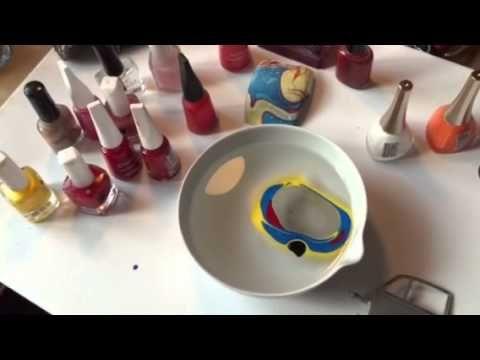 Beautiful water painting car/water -nail polish