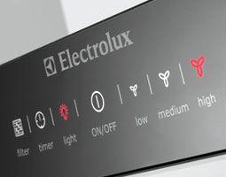 electrolux ebony collection hood control