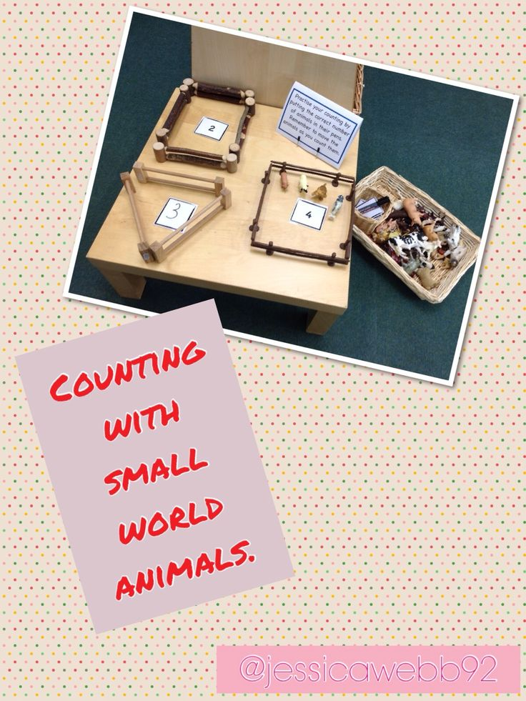 Counting animals into their pens in the farm. Children can write their own numbers, too. Could also be used for doubling, halving and sharing, taking away, adding etc... EYFS