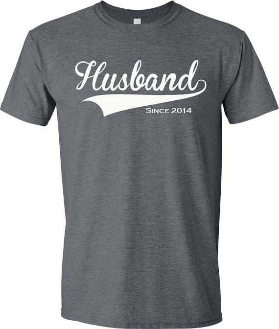 Husband Since. Date personalized t shirt. Fun shirt by GiomadiInc, $14.95