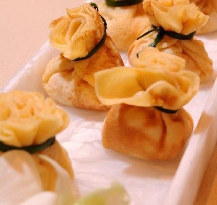 Those small bite sized #crepes are a great idea for an appetizer.
