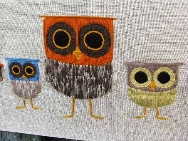 owls - I could do these ion embroidery