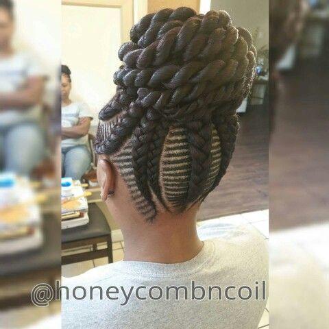So Cute Cornrows With A Twisted Bun African Braids
