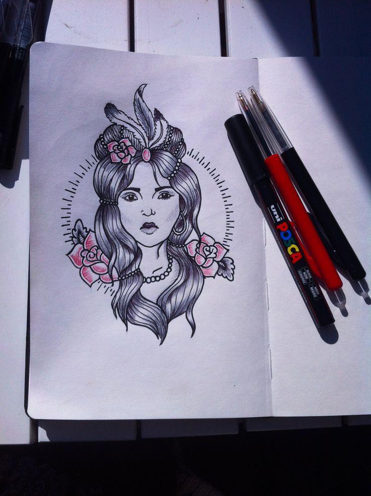 Indian girl #djuul #5493 #tattooart