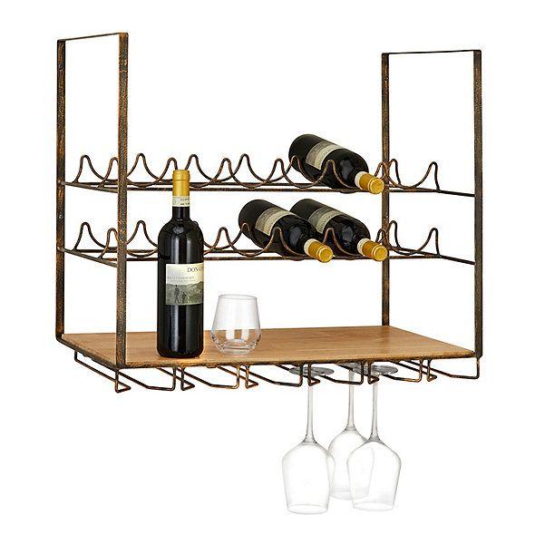 Vintageview Wall Series 12 Bottle Wall Mounted Wine Rack Vinreol Vinreoler Boligindretning