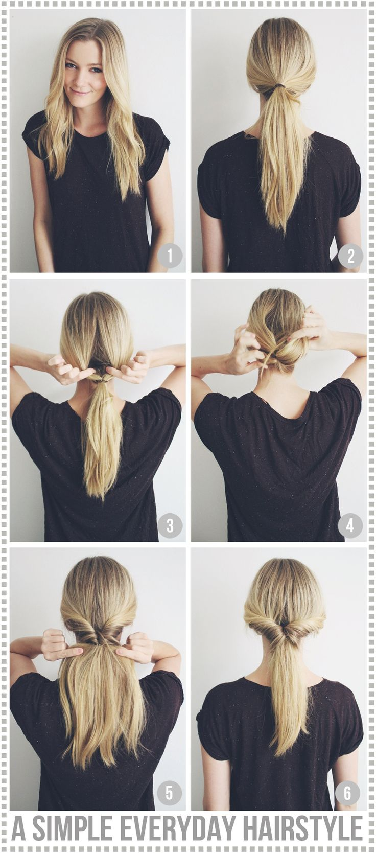 A Simple Everyday Hairstyle - Passions For Fashion