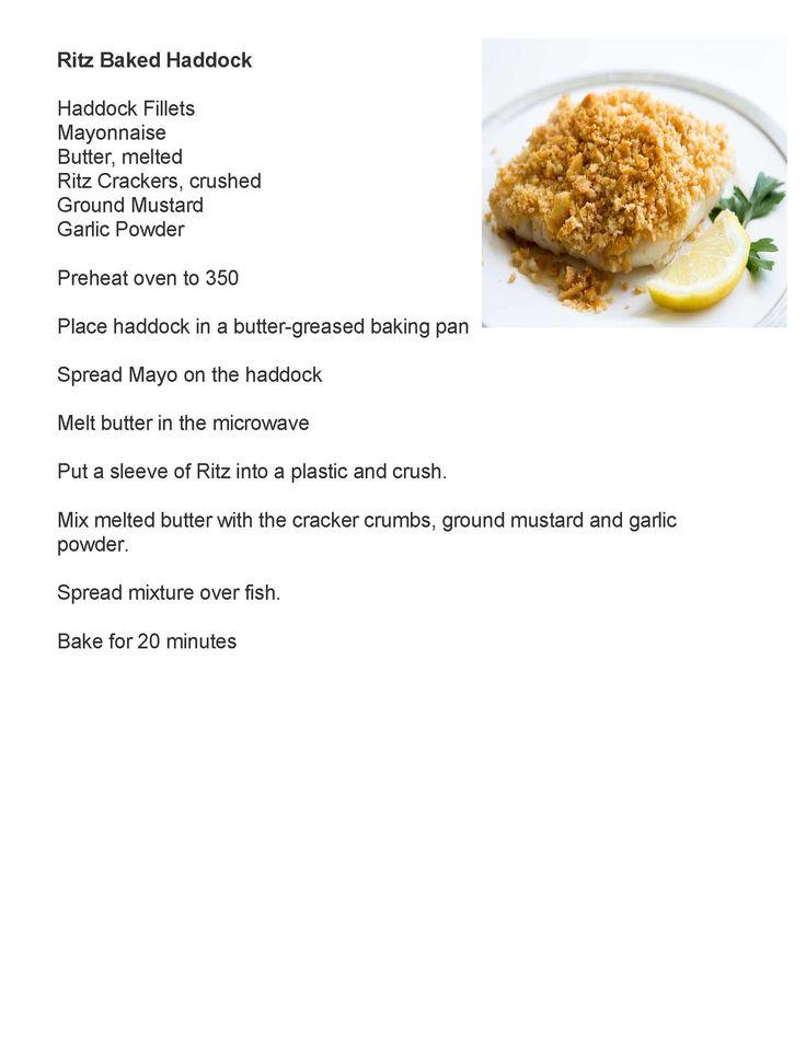 Baked Haddock with Ritz Crackers and Mayo