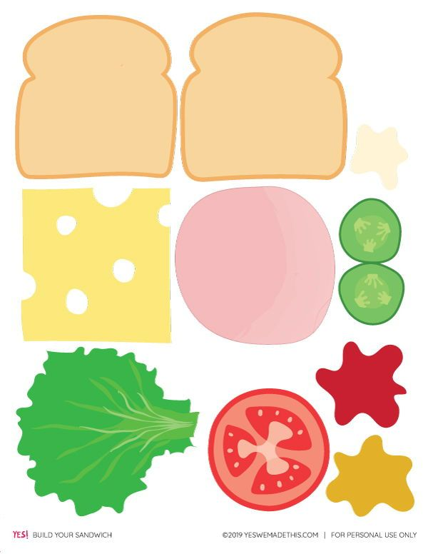 Diy Play Food Sandwich Printable Yes We Made This Fun Activities For Kids Creative Kids Projects Dramatic Play Activities