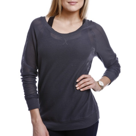 Mesh Raglan Crew, $48   A favourite of the Roots Web Team.