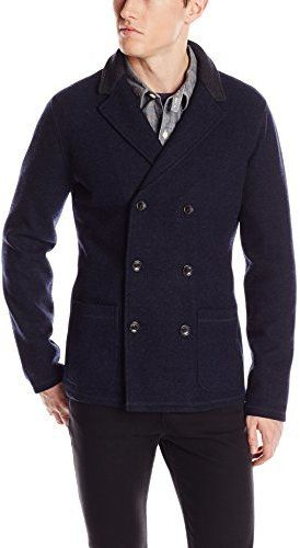$398, Navy Knit Blazer: Jack Spade Garrett Knit Blazer. Sold by Amazon.com. Click for more info: https://lookastic.com/men/shop_items/144903/redirect