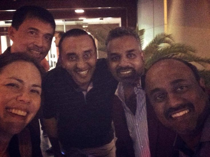 A shout out to those who joined us in going BIGGER, STRONGER, LOUDER at #ReVConUAE14! Here's a photo taken on the night before the event, at Roberto's, one of Dubai's best restos.