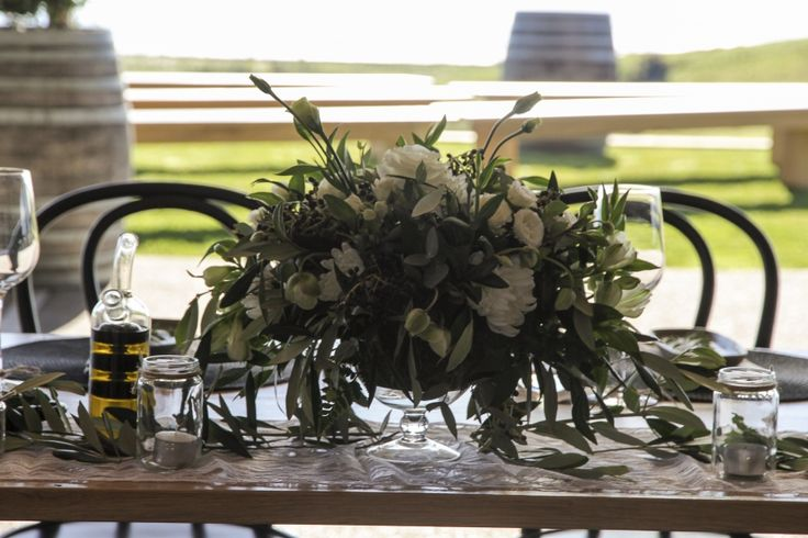 White & Green compote arrangement | Envy Events, Wedding Hire, Styling, Planning, Auckland