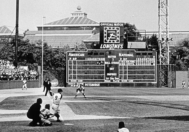 Forbes Field (Pittsburgh). Mazeroski's home run to end 1960 World Series.