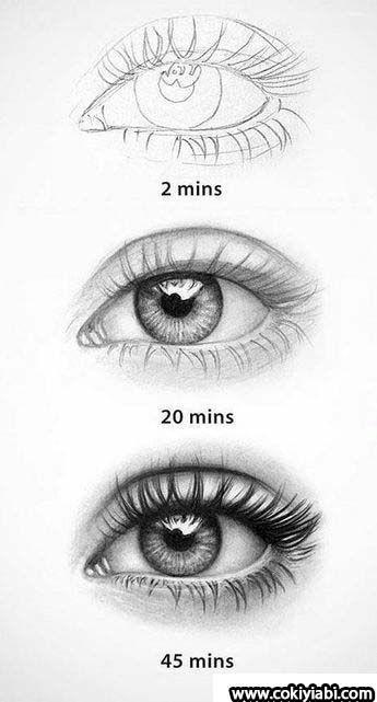 Drawn Lady mit Real 3d Colorful Eye Zeichnungen und Techniken – Drawing