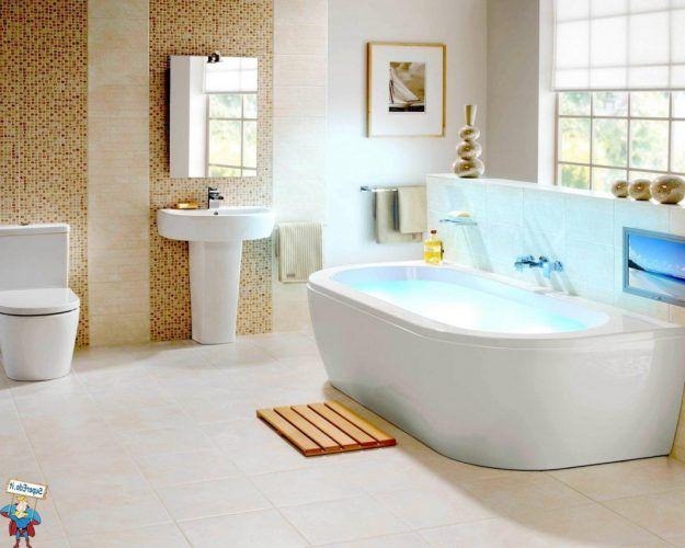 Desain Kamar Mandi Dengan Bathub Modern