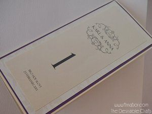 Festprogram Bröllop-  luxury Program Lila & Ivory