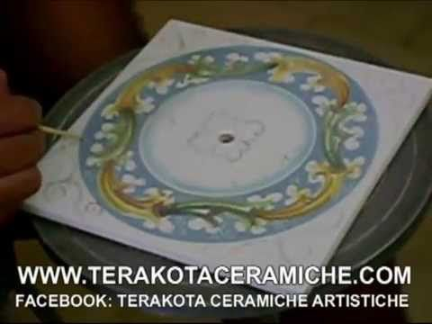 Terakota ceramiche,LAVORAZIONE CERAMICA CALTAGIRONE, CERAMICA SICILIANA,LAMPADARIO - YouTube