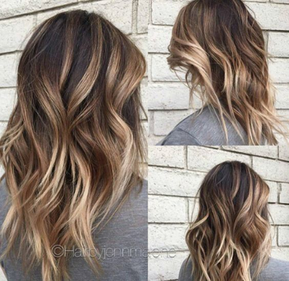 Balayage-Hairstyle-Ideas-Winter-Hair-Color-2016-2017 » New Medium Hairstyles