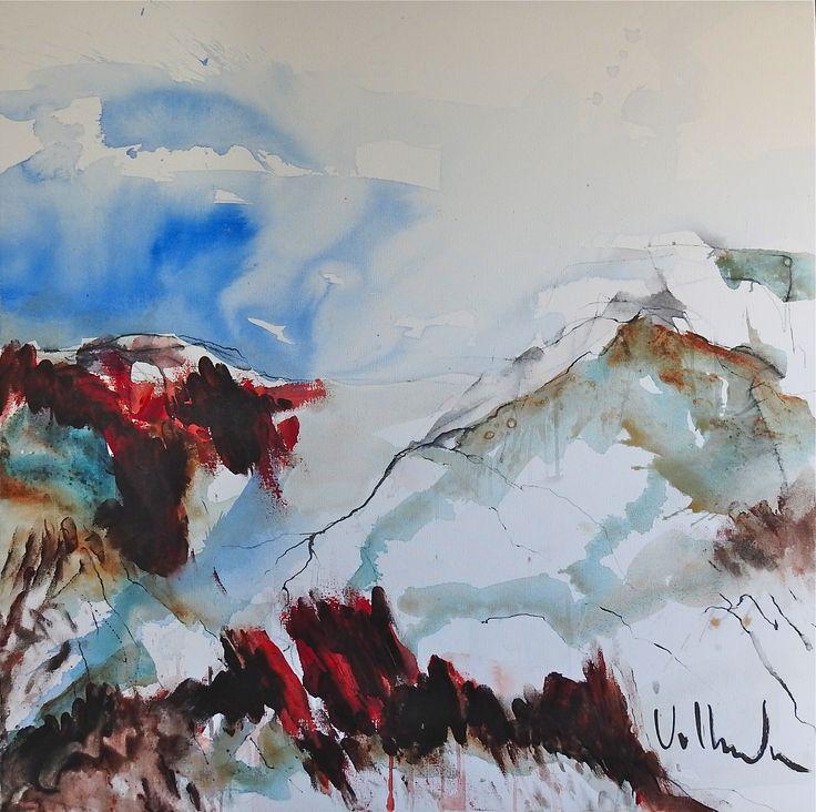 Red Landscape  2017 100 x 100 cm