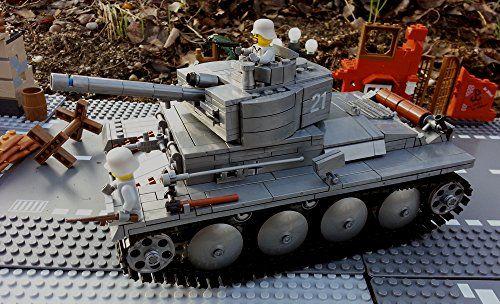 Modbrix 82009 - Bausteine Panzer Modell, PzKpfw II , Sd.Kfz. 121, knapp 900 Teile inkl. Lego© Wehrmacht Soldaten Brigamo http://www.amazon.de/dp/B00SQXUQM0/ref=cm_sw_r_pi_dp_s7bjvb06P53D3