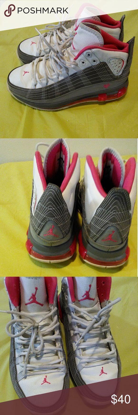 Women's Michael Jordan's 5.5 Y-US Pink, White ,Gray Michael Jordan Shoes Sneakers