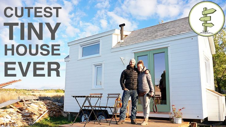 Pascal and Catherine built their first tiny house in just 40 days and are currently living in it as their second home. They're a couple from Kamouraska, Cana...