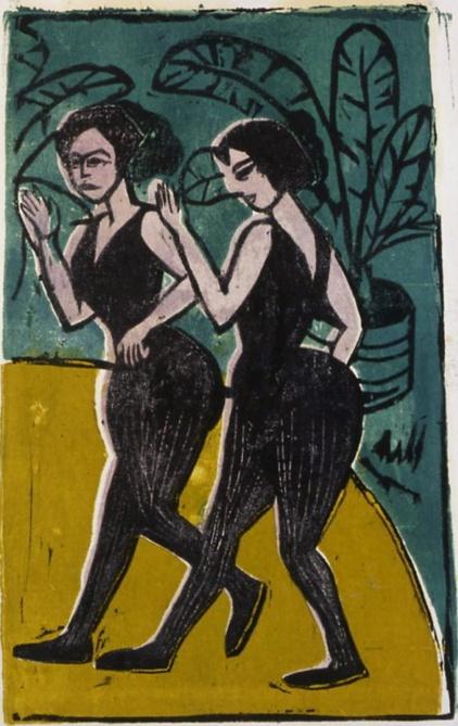 By Ernst Ludwig Kirchner, 1 9 1 1, English Dancers, Coninx Museum, Zurich, Switzerland.