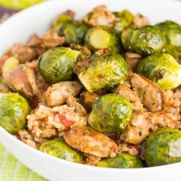 30-Minute Quinoa Recipe with Sausage and Brussels Sprouts