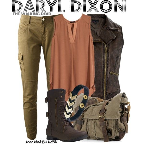 """""""Daryl Dixon (The Walking Dead)"""" by wearwhatyouwatch on Polyvore"""