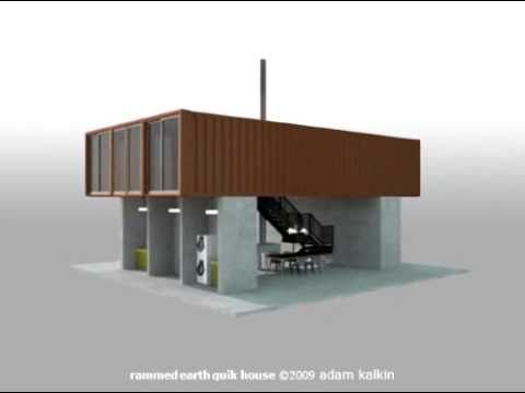 shipping container home design cad. The Rammed Earth Shipping Container  Quik House by Adam Kalkin 72 best Small Homes Tiny Houses images on Pinterest