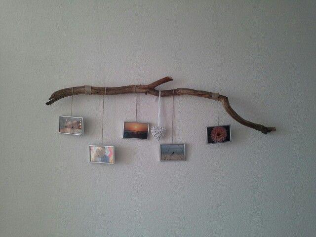 Tak met foto s, leuk idee voor aan de muur. Naar een idee van Pinterest :)