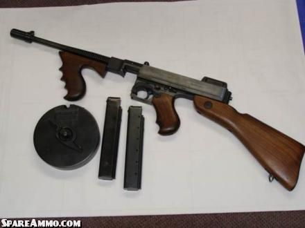The Thompson Submachine gun. Fired a .45 caliber pistol ...