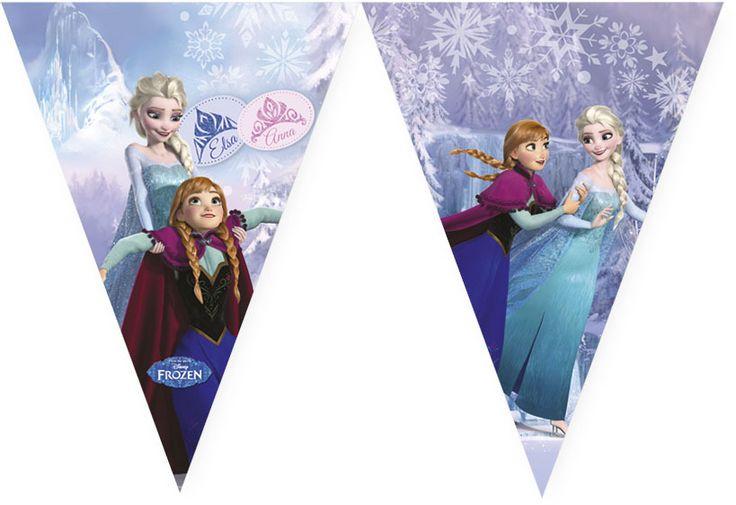 Frozen Ice Skating vlajka 9ks | BALONKY .CZ