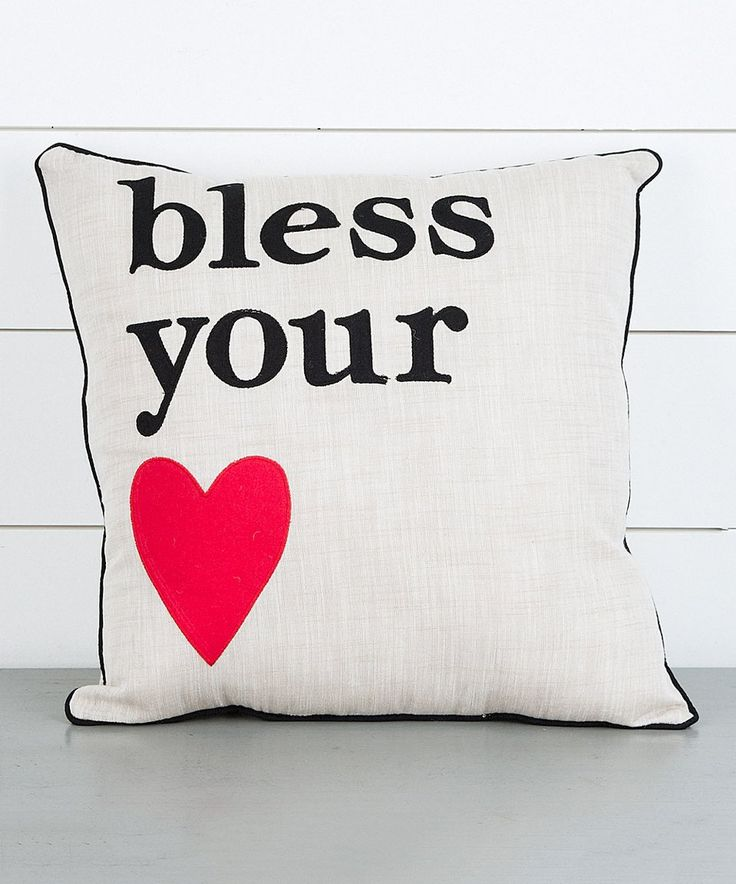Take a look at this 'Bless Your Heart' Throw Pillow today!