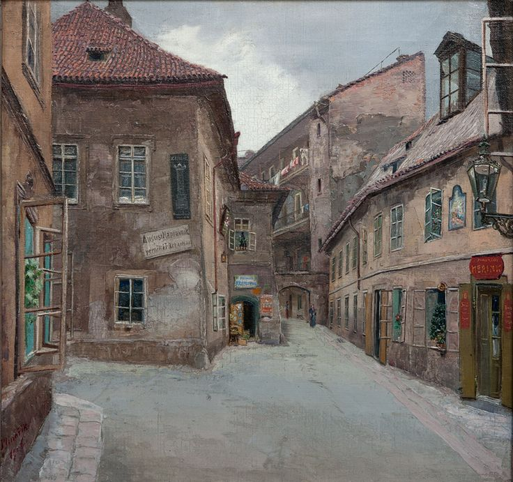 Old Prague, Jan Minařík. Czech (1862 - 1937)
