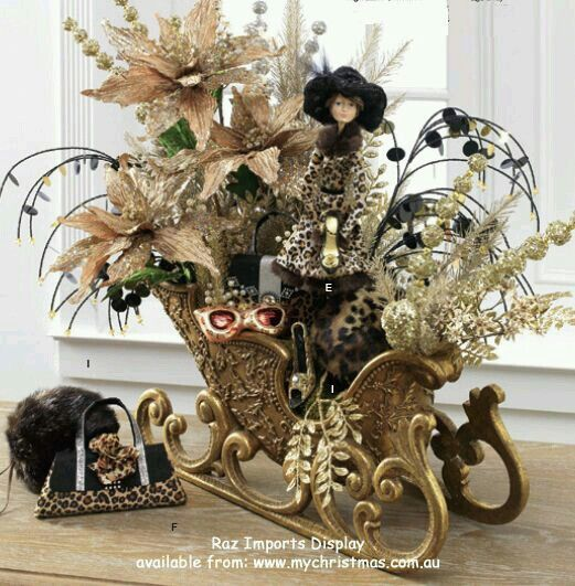 Best tabletop sleigh images on pinterest christmas