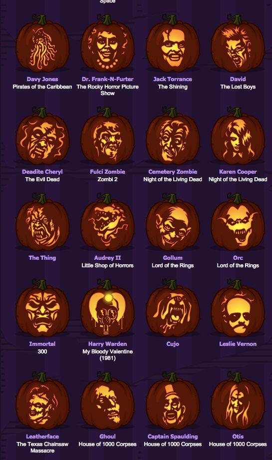 More movie monster pumpking stencils i love halloween