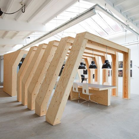 OneSize by Origins Architects – love timber in the workplace.