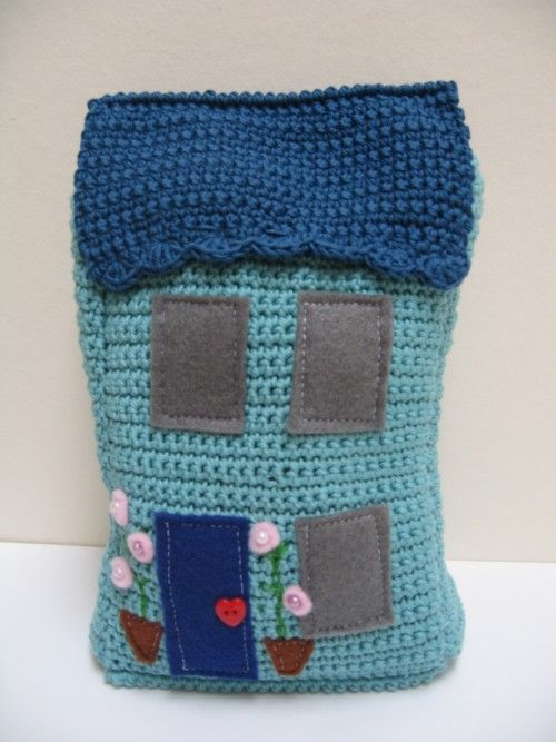 Inspiration @ Emma Varnam - cute crochet house doorstop
