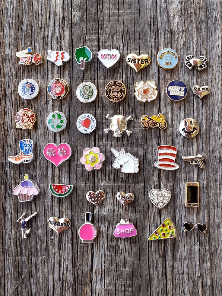 Floating Charms for Memory Lockets