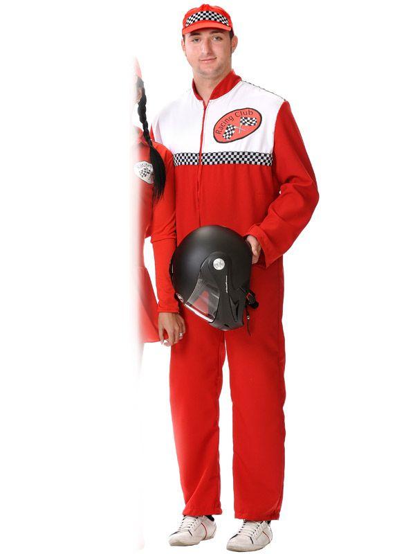 DisfracesMimo, disfraz de piloto carreras hombre talla xl. Si eres amigo de la velocidad hazte con este traje y conviértete en auténtico piloto. Este disfraz es ideal para tus fiestas temáticas de disfraces de pilotos y azafatas, uniformes de trabajo adulto.