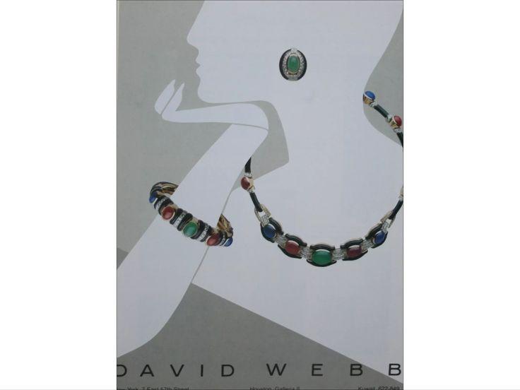 Parure in onice con cabochons di smeraldi rubini zaffiri e diamanti David Webb