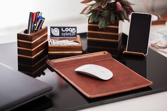 Full Office Package Wood paper clip holder for desk Wood pen