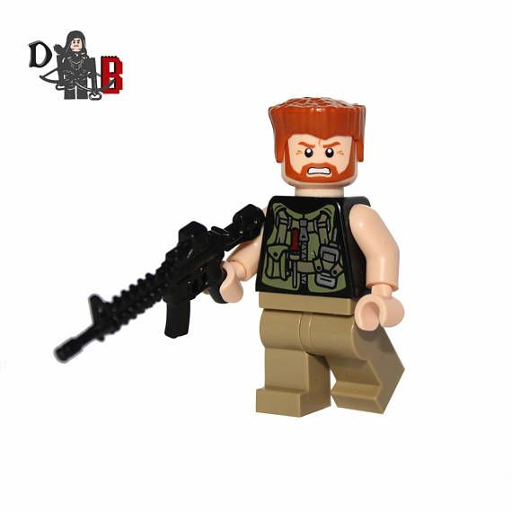 The Walking Dead Abraham Ford Minifigure Made using LEGO /& custom parts.
