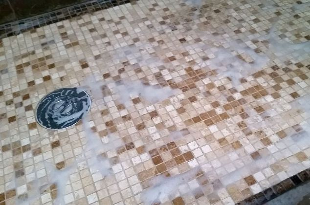 neat swifter hack 4 ingredient diy bathroom tile grout cleaner, bathroom ideas, cleaning tips, tiling, Quick Coffee Break