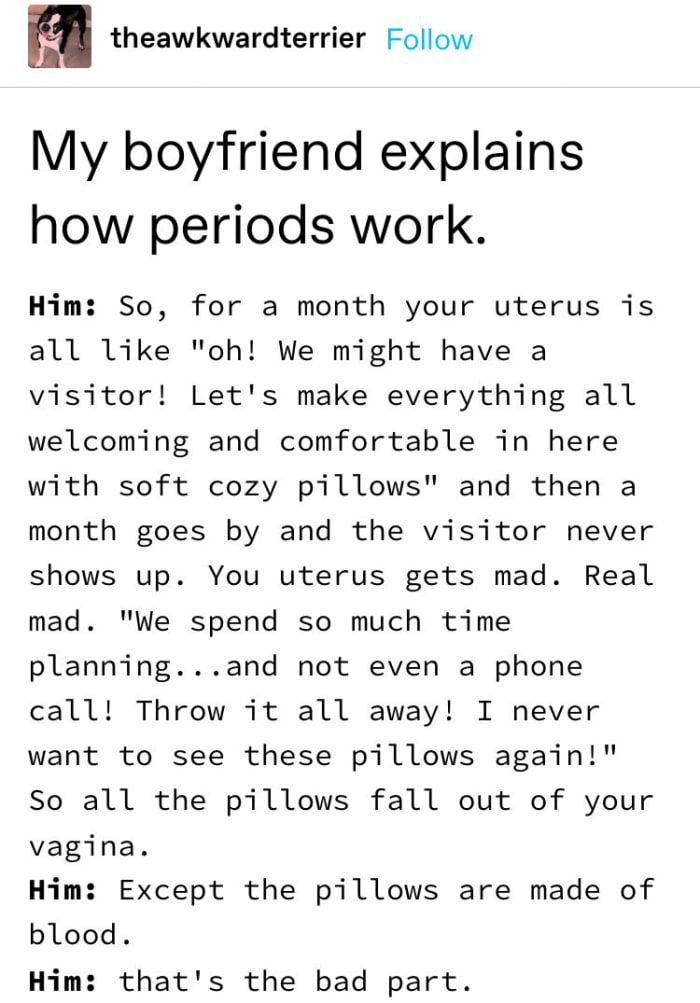 15 Tumblr Posts About Periods That Ll Make Anyone With A Uterus Laugh Period Memes Funny Period Quotes Period Humor