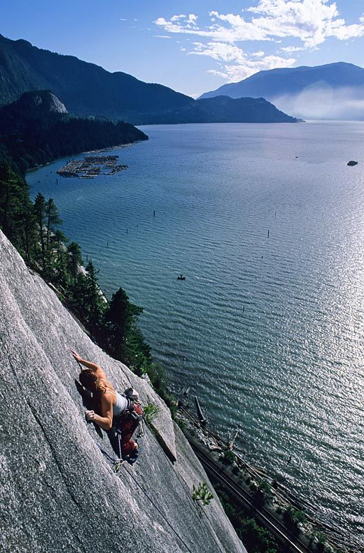 Rock climbing in Squamish, British Columbia, Canada. That's my home <3