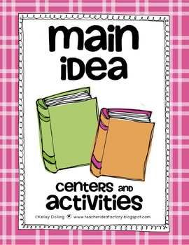 So many fun activities to teach your kids about main idea!!