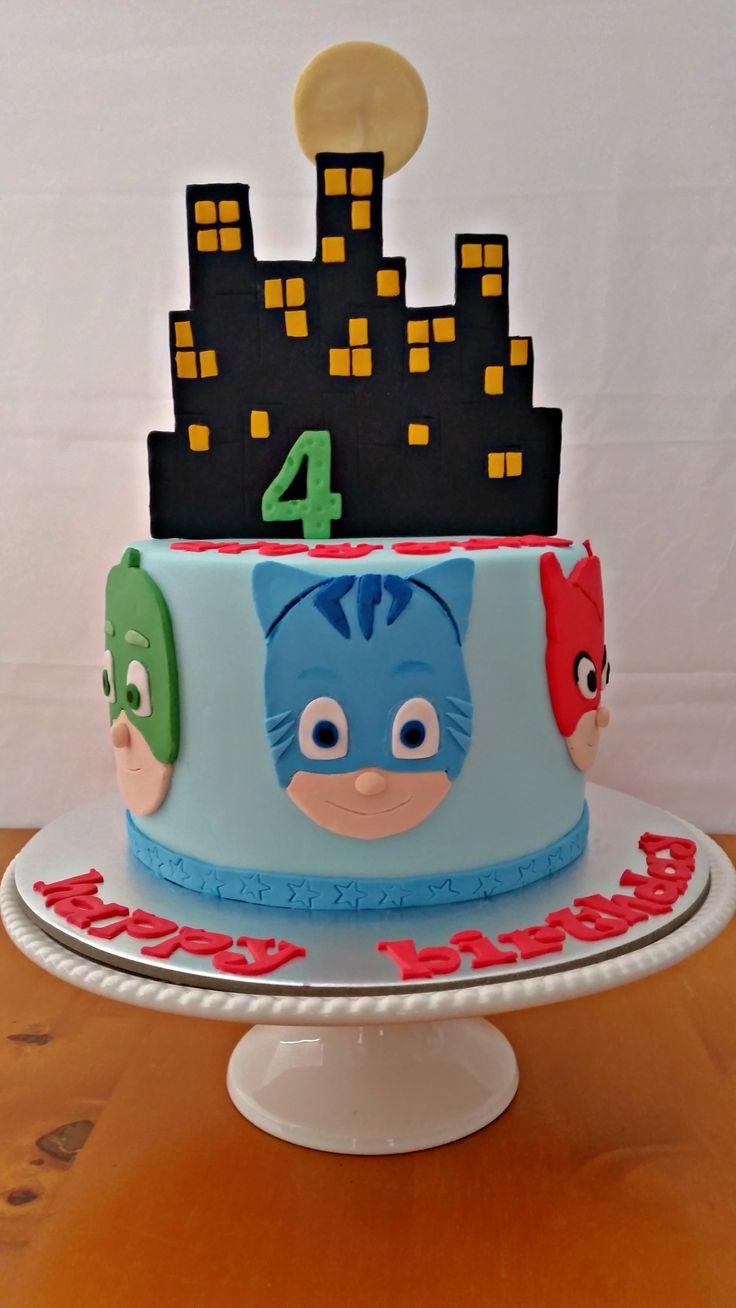 PJ Mask cake for Aloysius :)
