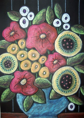9x12 Original oil pastel, Floral Bouquet, by Karla Gerard, www.karlagerard.com.  Thanks for looking!
